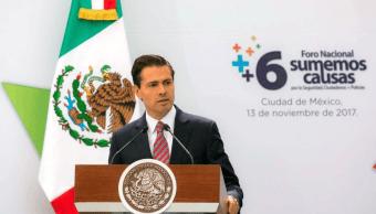 EPN reprocha sociedad bullying instituciones del Estado