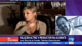 Fallecen Actriz Productor Accidente Automovilístico Claudio Reyes María Eugenia Dueñas
