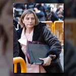 Carme Forcadell llegó al Tribunal de Justicia en Madrid. (EFE)