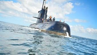 Imagen del submarino de la Armada desaparecido