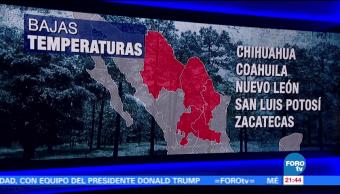 Frente frío 11 provoca temperaturas bajas en México