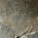 Friso destruido por el Estado Islámico en el sitio arqueológico de Nimrud