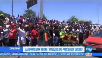 Impiden Manifestantes Llegar Palacio Presidencial Zimbabue