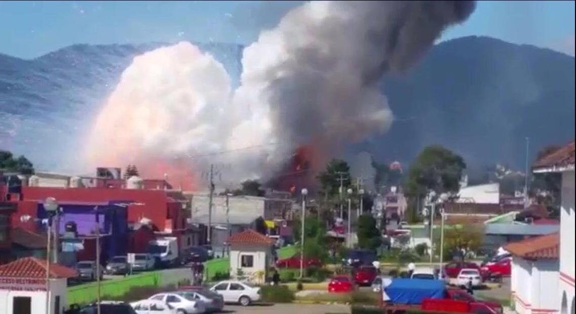 Se registra incendio y explosión en una vivienda en Chiapas