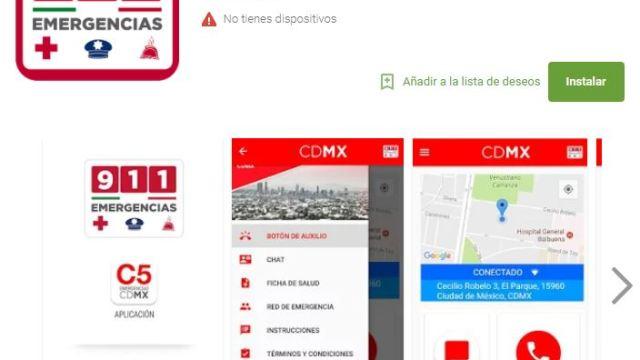 Integran la alerta sísmica en aplicación 911 cdmx