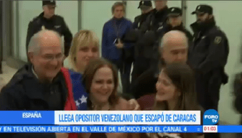 Ledezma Madrid España Huir Venezuela Opositor Antonio