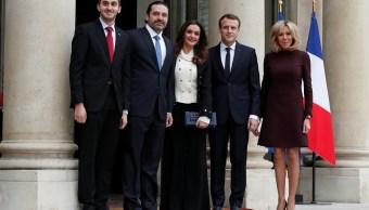 Macron recibe al primer ministro de Líbano, Saad Hariri