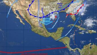 Mapa con el pronóstico del clima para este 22 de noviembre; se pronostica frío intenso al norte, noreste, oriente y centro de México. (SMN)