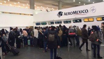 40 vuelos afectados en AICM por paro de pilotos