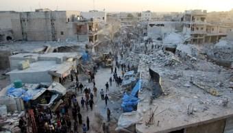 Ataque aéreo deja más 50 muertos norte Siria