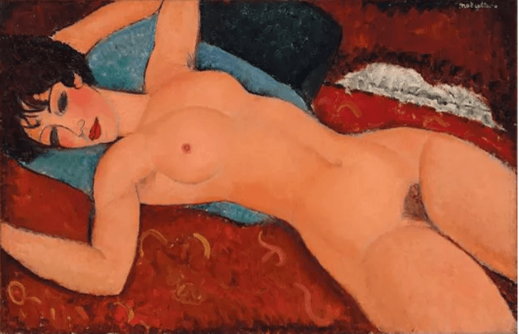'Nu couché', de Amedeo Modigliani (http://fahrenheitmagazine.com)