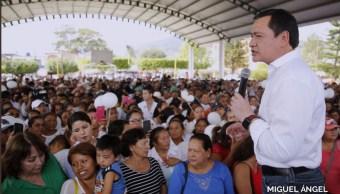 Osorio Chong supervisa trabajados de reconstrucción en Chiapas