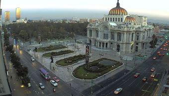 Panorámica de la Ciudad de México; prevén una temperatura máxima de 25 grados centígrados. (Twitter/ @webcamsdemexico)