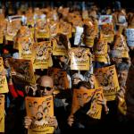 Protesta en Barcelona en demanda de la libertad de los exfuncionarios catalanes