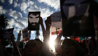 Protesta que exige justicia por la muerte del activista argentino Santiago Maldonado