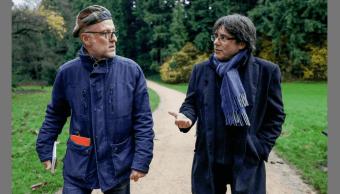Puigdemont durante entrevista con Le Soir