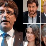 Carles Puigdemont, Antoni Comin, Lluís Puig, Meritxell Serret y Clara Ponsatí