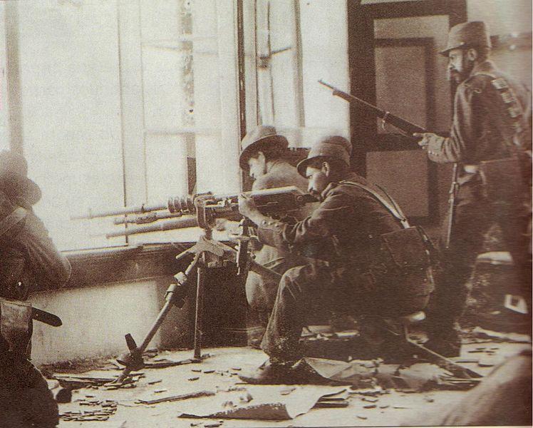 Soldados durante la Decena Trágica, Foto