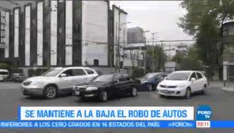 Robo Autos Mantiene Baja Ciudad México