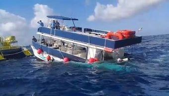 Naufraga catamarán con 95 personas a bordo en Cozumel