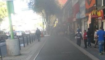 Se registra conato de incendio en Metro Salto del Agua