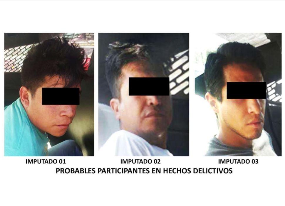 Detienen a tres sujetos por robar jamón en Coyoacán, CDMX. (Twitter/@PGJDF_CDMX)