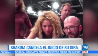 #LoEspectaculardeME: Shakira cancela el inicio de su gira