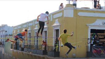 realizan campeonato mundial slackline en campeche