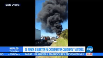 Reportan Cuatro Muertos Accidente Hidalgo Tamaulipas