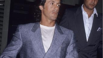 Sylvester Stallone y su guardaespaldas Mike De Luca. (http://www.dailymail.co.uk, Archivo)