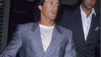 Sylvester Stallone y su guardaespaldas Mike De Luca. (http://www.dailymail.co.uk, Archivo)