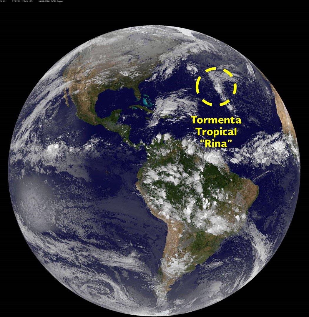 Tormenta tropical 'Rina' se forma en el Atlántico