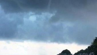 tromba marina sorprende turistas huatulco oaxaca