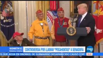 Trump Llama Pocahontas Senadora Demócrata Presidente De Estados Unidos