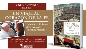 valentina alazraki presenta nuevo libro del vaticano