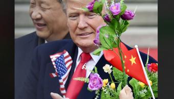 Xi Jinping y Donald Trump en China
