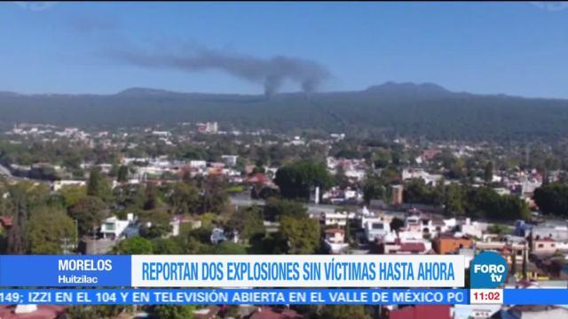 Reportan dos explosiones en el municipio de Huitzilac, Morelos
