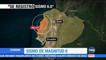 Descartan muertos y alerta de tsunami tras sismo en Ecuador