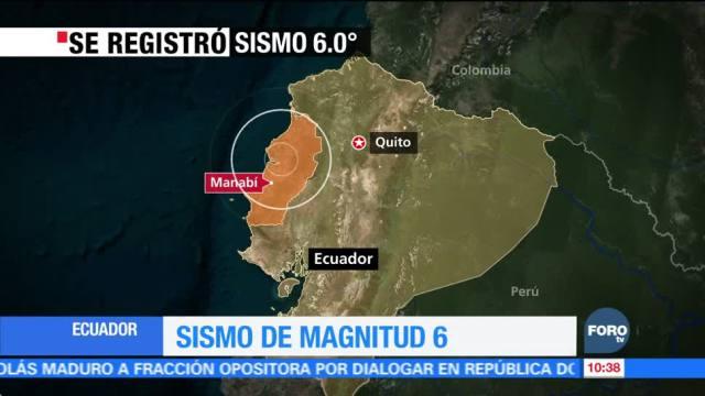 Al menos dos heridos deja sismo en Ecuador