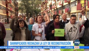Damnificados del sismo rechazan Ley de Reconstrucción de la CDMX