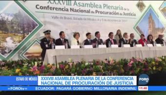 Realizan la XXXVIII Asamblea Plenaria de la Conferencia de Procuración de Justicia