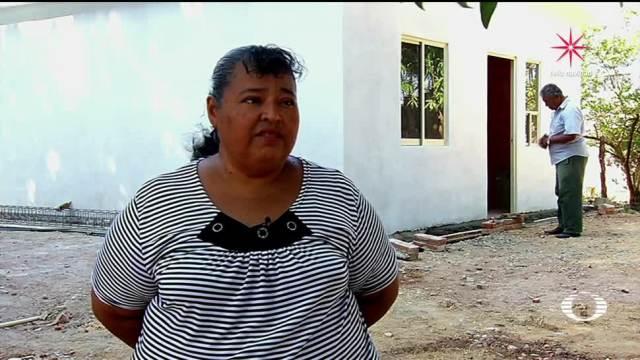 Damnificados de Oaxaca estrenan enseres domésticos