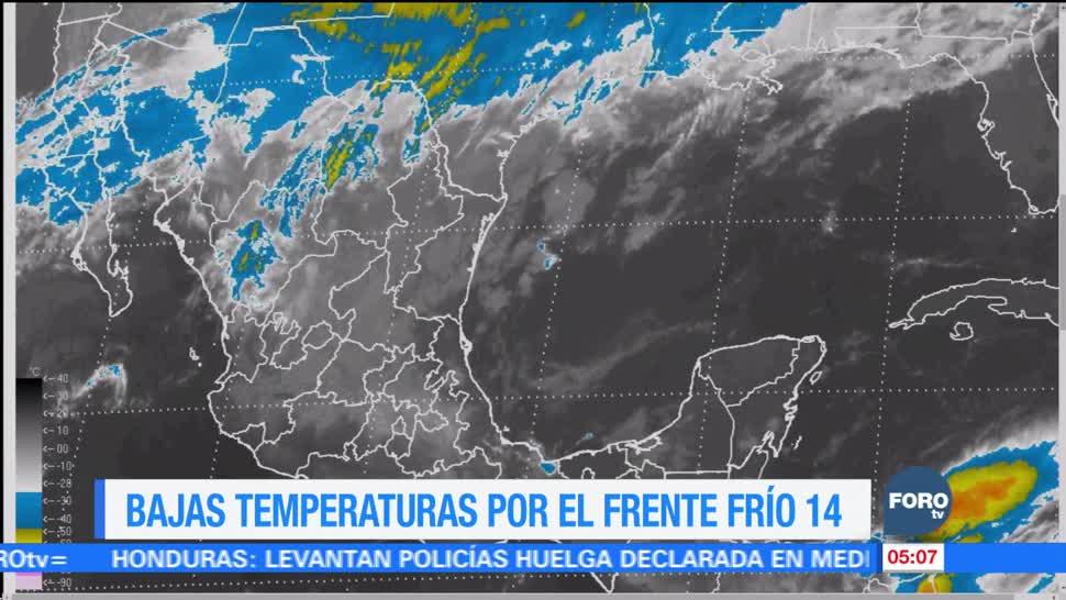 Frente frío 14 provocará caída de aguanieve