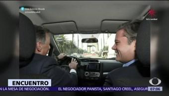 Meade se reúne con Aurelio Nuño en trayecto compartido