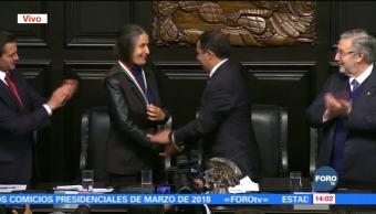 Senado entrega en sesión solemne Medalla Belisario Domínguez