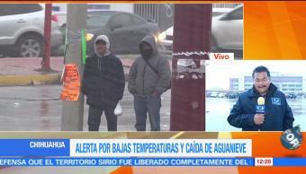 Alerta por bajas temperaturas y caída de aguanieve en Chihuahua