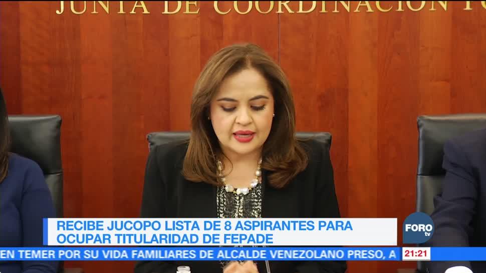 Jucopo recibe lista de aspirantes para titularidad de la Fepade