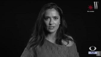 Salma Hayek es une a campaña de Hollywood contra acoso sexual
