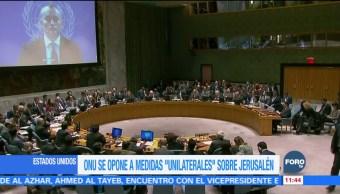 ONU reitera que estatus final Jerusalén debe surgir entre israelíes y palestinos