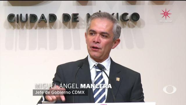 Miguel Ángel Mancera critica a Mikel Arriola